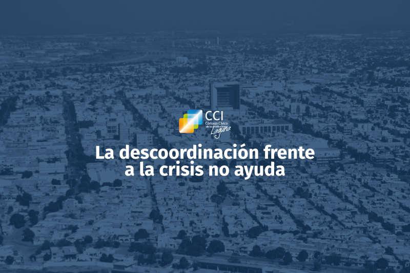 La descoordinación frente a la crisis no ayuda