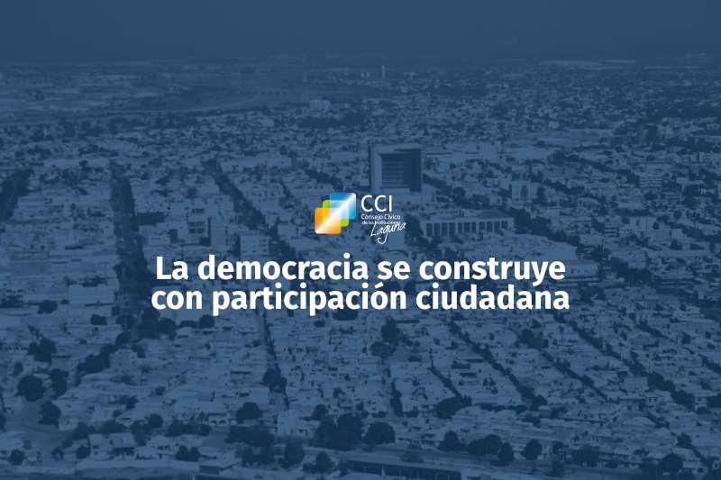 La democracia se construye con participación ciudadana